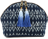 JADEtribe Seminyak Tassel Cosmetic Bag in Blue.