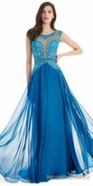 Morrell Maxie Iridescent Beaded Applique Evening Dress