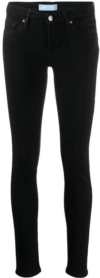 7 For All Mankind low rise skinny jeans