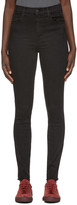 J Brand Black High-rise Carolina Jeans