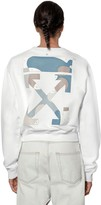 Off-White Off White Cotton Sweatshirt W/ Back Color Palette