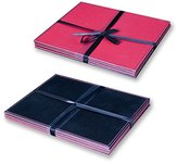 Anika Reversable Place Mats, Pack of 4, Black/Red