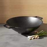 Crate & Barrel Lodge ® Cast Iron Wok