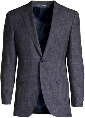 Canali Woven Wool Single-Breasted Jacket