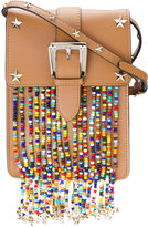 RED Valentino studded bead detail crossbody bag - women - Calf Leather - One Size