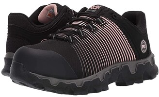 Timberland Powertrain Sport Alloy Safety Toe ESD (Black Ripstop Nylon/Rose Gold Print) Women's Work Boots