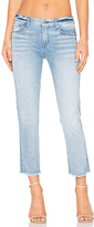 7 For All Mankind Distressed Unfinished Hem Ankle Straight. - size 25 (also in 26)