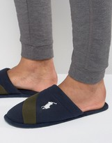 Ralph Lauren Rugby Crest Slip On Slippers