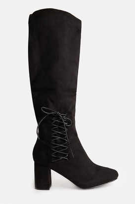 Coast Lace Up Knee High Heeled Boots