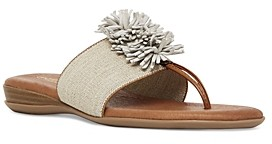 Andre Assous Women's Novalee Featherweights Leather Fringe Demi Wedge Sandals