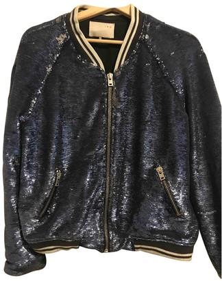 IRO Blue Glitter Leather jackets