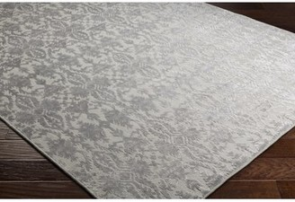 Rockland One Allium Way Hand-Knotted Light Gray Area Rug One Allium Way Rug Size: Rectangle 9' x 13'