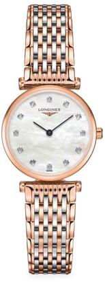 Longines La Grande Classique Two-Tone & Diamond Bracelet Watch