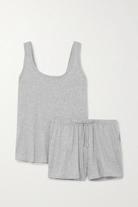 Skin Melange Pima Cotton-jersey Pyjama Set - Gray