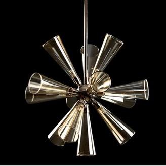 Viz Glass 12 - Light Sputnik Sphere Chandelier