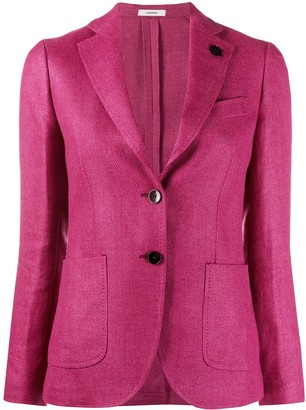 Lardini Fitted Two-Button Blazer