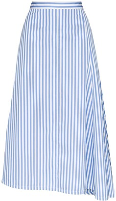 Jil Sander Mia striped flared skirt