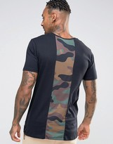 Hype T-Shirt With Camo Print Back Panel