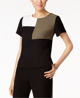 Nine West Colorblocked Short-Sleeve Top