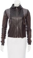 Rick Owens Lilies Sequin Leather Jacket w/ Tags