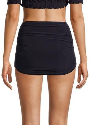 Norma Kamali Bill Ruched High-Rise Bikini Bottom