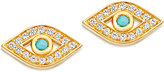 Astley Clarke Mini Evil Eye 18ct yellow gold-plated earrings