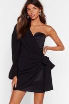 Nasty Gal Womens One Night Only Puff Sleeve Mini Dress - black - 4
