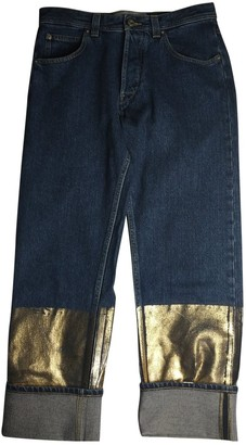 Loewe Blue Cotton Jeans for Women