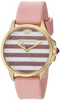 Juicy Couture Women's 'JETSETTER' Quartz Gold-Tone and Silicone Casual Watch, Color:Pink (Model: 1901572)