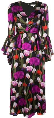 Borgo de Nor Serefina floral-print dress
