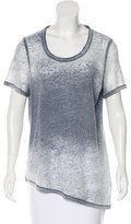 Elie Tahari Short Sleeve Scoop Neck Top