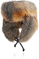 Crown Cap Men's Fur Trapper Hat-GREY