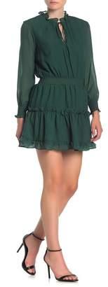 NSR Ruffle Trim Smocked Dress