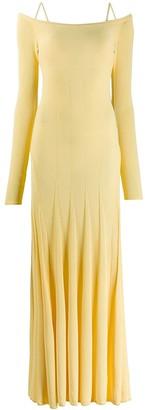 Jacquemus Yellow La Robe Maille Valensole Dress