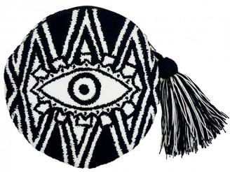 Mama Tierra Evil Eye Round B&W Clutch S