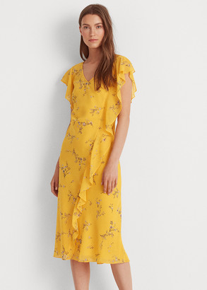 Ralph Lauren Floral Georgette Dress