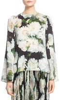 ADAM by Adam Lippes Women's Floral Print Bell Sleeve Top