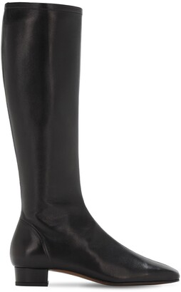 BY FAR 30mm Edie Leather Tall Boots
