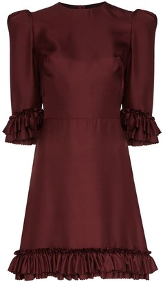 The Vampire's Wife Festival ruffled silk mini dress