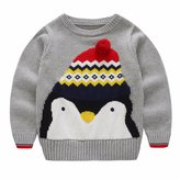 YoYoUNG Boys Sweater with Cute Penguin Pattern 2-7 Years Kids Winter Sweater
