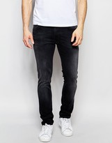 Nudie Jeans Thin Finn Slim Fit Black Brutus Washed Out