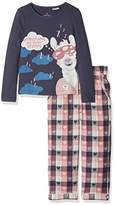 Fat Face Girl's Llama Pyjama Sets,(Manufacturer Size: 4-5)