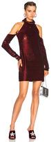 Ashish Cold Shoulder Dress in Red.