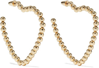 Noir 14-karat Gold-plated Hoop Earrings