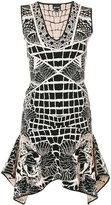 Just Cavalli tiger embroidered dress