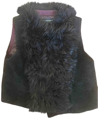 Antik Batik Burgundy Mongolian Lamb Jacket for Women