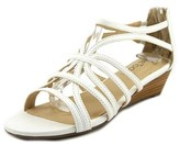Me Too Sofie Open Toe Leather Wedge Sandal.