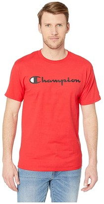 Champion Classic Jersey Graphic Tee (Scarlet) Men's T Shirt