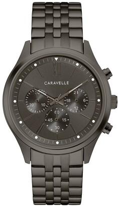 Caravelle Designed by Bulova Men's 45A141 Chrono Gunmetal Stainless Bracelet Watch