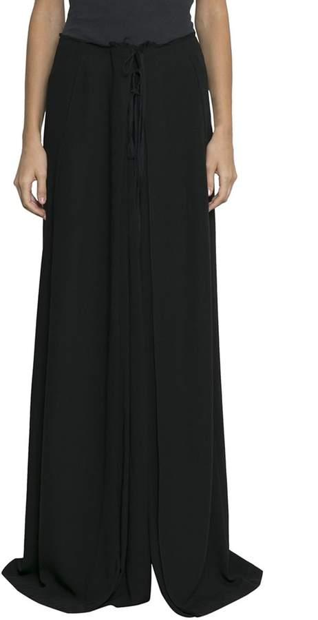 Ann Demeulemeester Viscose Drawstring Skirt